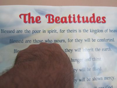 "The Word for today is in Matthew 5:4 signales by my finger in the Beatitudes chart ! I think one of the Scriptures to comprehend this particular Beatitiud is by means of Ecclesiastes 7:4 OPINIONS ??? I also suggest you read Eccesiastes 7:4 for yourselves which says, "" The heart of the wise is in the house of mourning;but the heart of fools is in the house of mirth"" I would like to hear your opinions and educate me on this."